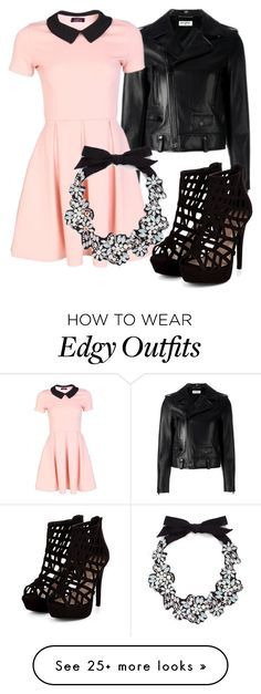 """""""Edgy n' Chic"""" by friends1100 on Polyvore featuring Yves Saint Laurent and J.Crew"""