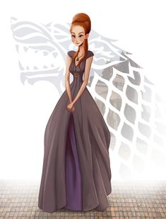 Sansa Stark from GAME of THRONES (Song of Ice and Fire) by Leann Hill