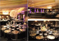 High Glamour Black And Silver Hotel Zaza Wedding With Canine Friend