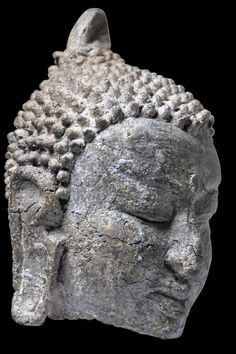 Pagan Burmese century Buddha Head - Michael Backman LtdMichael Backman Ltd Sculptures, Lion Sculpture, Buddha Statues, Buddha Head, Bagan, 12th Century, Burmese, Asian Art, Buddhism