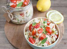 Taboulé de chou fleur #DanOn #recette Cantaloupe, Salsa, Fruit, Ethnic Recipes, Food, Sprouts, Salads, Cooker Recipes, Salsa Music