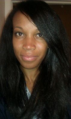 Straight hair.  No relaxer.