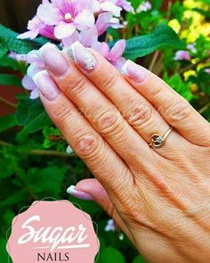 French nails with flower