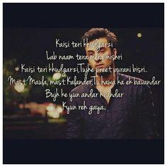 Re Kabira maan jaa Romantic Song Lyrics, Cool Lyrics, Music Lyrics, Song Lyric Quotes, Movie Quotes, Life Quotes, Hindi Quotes, Quotations, Dear Zindagi