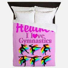 Gymnast Star Queen Duvet Your Gymnast will be thrilled to decorate her room with our awesome personalized Gymnastics bed covers and pillow cases.   http://www.cafepress.com/sportsstar/10114301 #Gymnastics #Gymnast #WomensGymnastics #Lovegymnastics #Personalizedgymnast