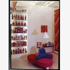 Textiles Objects shop in Manhattan designed by Alexander Girard. Alexander Girard, Textiles, Interior Design, Manhattan, Folk Art, Furniture, Objects, Home, Nyc