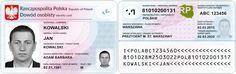 Wzór dowodu osobistego Passport, Identity, Personal Identity