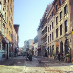 the streets of Old Montreal, Canada