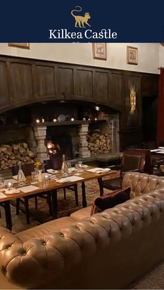 Reflecting back on a private dinner in our castle ground floor. So intimate and cozy by the fire.