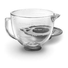 Glass bowl for the 5 quart KitchenAid. It's actually larger than the steel bowl & you can see everything. A great add on for your stand mixer plus you can chill cream in it for whipping & even melt chocolate in the microwave. Plus it's kinda pretty - love love!