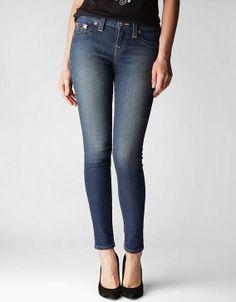 True Religion Hand Picked Basic Legging Womens Jean - Buttermilk Sky