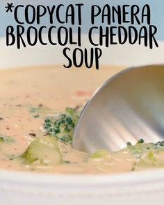 Broccoli Cheddar Soup A secret ingredient in our copycat version makes it extra vibrant ? A secret ingredient in our copycat version makes it extra vibrant ? Copycat Recipes, Gourmet Recipes, Dinner Recipes, Cooking Recipes, Healthy Recipes, Cooking Icon, Salad Recipes, Healthy Food, Tartiflette Recipe
