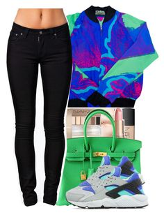 """""""eh?"""" by yeauxbriana ❤ liked on Polyvore featuring Hermès, Nudie Jeans Co. and NIKE"""
