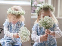 Childrens gypsophila flower crown.  Photo Credit: http://www.cathepplephotography.com/