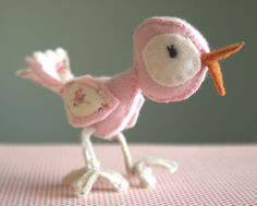 Adorable wool bird.