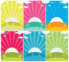 Simple Sunset Vectors