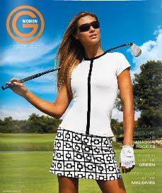 liz claiborne golf apparel women.  love this set.  Maybe black shirt from other pin with this skirt!