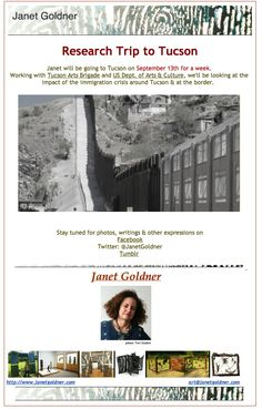 Announcement of Janet's upcoming Research Trip to Tucson.