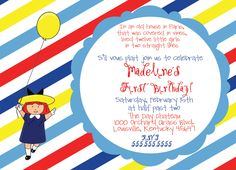 Madeline Birthday Party Invitation. $12.00, via Etsy.