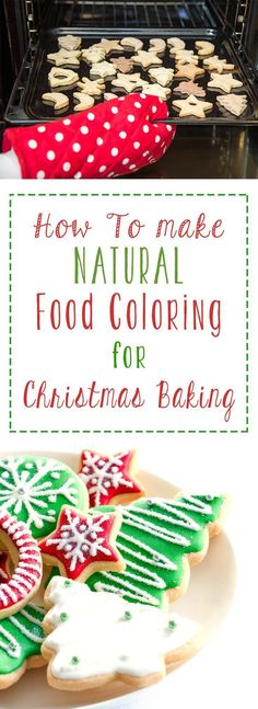 Avoid all the toxic and unnecessary junk found in traditional food dyes by using natural homemade food coloring that is really simple to make at home! Vegan Christmas Desserts, Christmas Treats, Christmas Baking, Christmas Time, Christmas Collage, Christmas Deco, Holiday Baking, Christmas Stuff, Whole Food Recipes