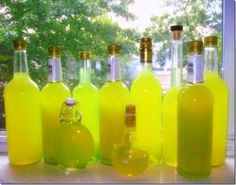 Limoncello...especially delicious when stored in the freezer...tiny ice crystals!  Yummy with vanilla ice cream!