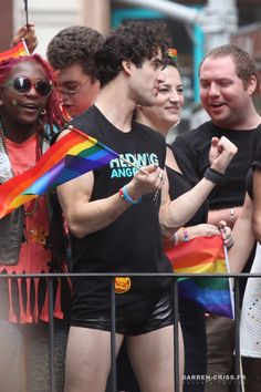[UHQ] Darren Criss in the 2015 LGBT Gay Pride March in New York City on June 28, 2015