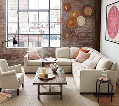 SoMa Harrison Square Arm Upholstered 6-Piece Sectional #potterybarn #mypotterybarn