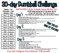 30 Day Arm Challenge Workin out on pinterest 30 day, 30 day arm challenge and 30 ...