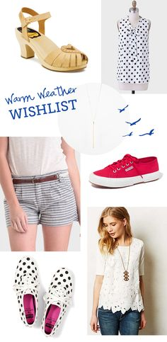 Warm weather wish list // At Home in Love