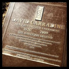 David Carradine, Forest Lawn, Hollywood Hills