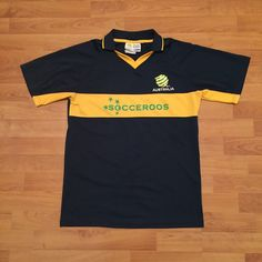 Australia Socceroos Official Jersey Shirt Soccer Football Blue Mens Small | eBay