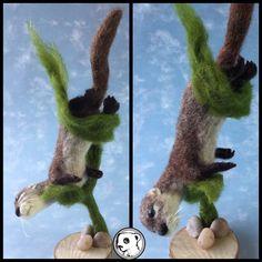 """lol work in progress, gravity defying otter #needlefelted #feltvisual #handmade…"
