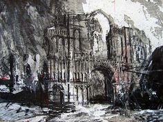 David Tress  'Castle Acre Priory, Norfolk', graphite on paper, 57x76cm, 2006