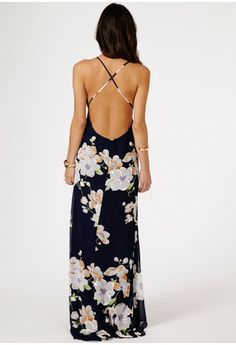 Bruixa Floral Chiffon Strappy Maxi Dress - Dresses - Maxi Dresses - Missguided