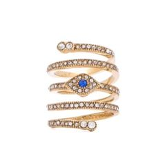 Host Pickunique Bcbg Spiral Evil Eye Ring