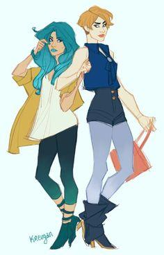 Modern Michiru and Haruka
