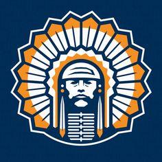 Illinois   Mascots   College football logos, Sports logo ...