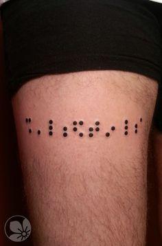 Braille tattoo