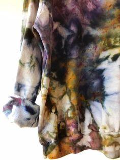 Hand Dyed Cotton Crew Neck Sweatshirt in Super Nova, Anna Joyce, Portland, OR. Tie Dye, – the hippie corner Ice Tie Dye, How To Tie Dye, How To Dye Fabric, Tye Dye, Diy Pullover, Diy Sweatshirt, Crew Neck Sweatshirt, Shibori, Diy Tie Dye Shirts