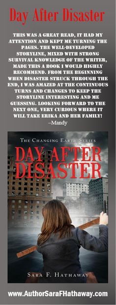 This was a great read, it had my attention and kept me turning the pages. The well developed storyline, mixed with strong survival knowledge of the writer, made this a book I would highly recommend. #DayAfterDisaster #TheChangingEarth #RRBC #IAN1 #IARTG #Author