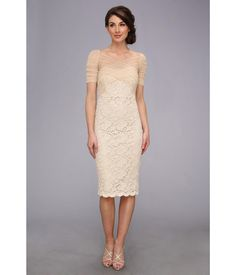 Show off your undeniable classic sophistication in this flawlessly glamorous Badgley Mischka® dre...