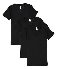 Pima Apparel Black V-Neck Tee Set - Women | Zulily