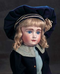 The Dolls in the House at the Top of the Hill: 1 Wonderful German Bisque Closed Mouth Doll known as