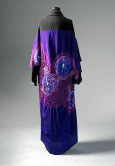 1995, Japan - Woman's Kimono Coat and Sleeveless Dress by Yohji Yamamoto - Coat: tie-dyed (shibori) silk; dress: silk