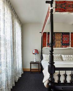 A successful partnership, @aamir khandwala. This dark blue rug complements the room's light-colored décor. Dark Blue Rug, Room Lights, Interior Design Inspiration, Colorful Decor, Blue Area Rugs, Bedroom, Modern, Furniture, West Village