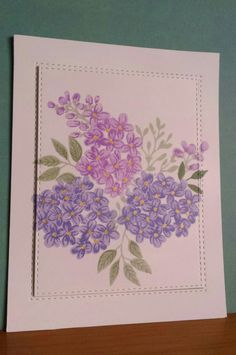 Lilac Bouquet by JustRite, Amy Feddler designs. DB 8/16