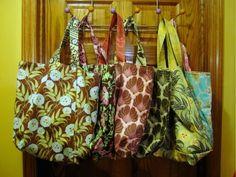 Canoe Ridge Creations: Go Green Shopping Bags { the tutorial }