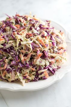 How to Make Joanne's Favorite Coleslaw Recipe from Inspired Taste - Fresh, Lively and Colorful #inspiredtaste