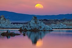 Moonrise and Tufa by Andrew J. Lee
