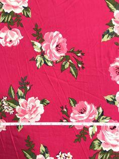 Salmon Pink 95/%Cotton 5/%Lycra Half M Stretch Jersey Knit Fabric Chinese Rose